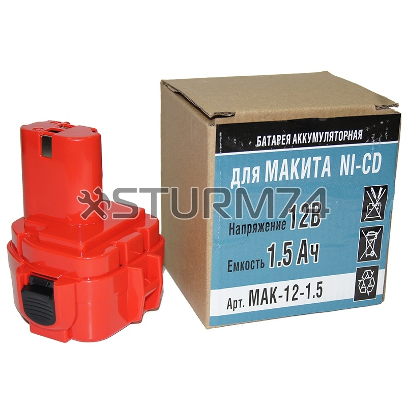Батарея Makita Ni-CD 12В, 1,5А/ч